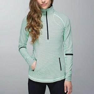 Lululemon Mint Half Zip Pullover